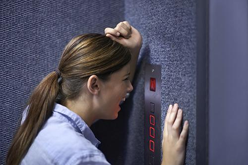 people stuck in elevator. stuck in elevator people