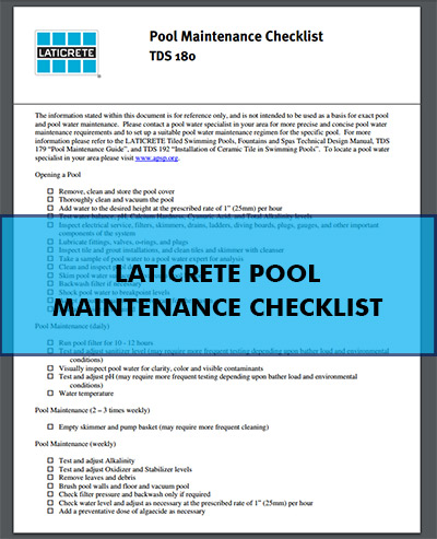 Laticrete Pool Maintenance