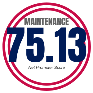 Maintenance Net Promoter Score 75.13